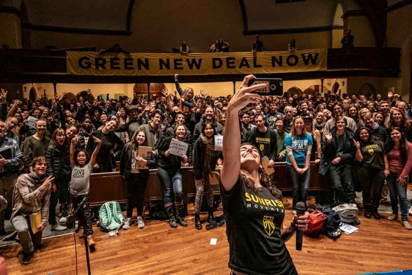 Image result for sunrise movement: ROAD TO A GREEN NEW DEAL tour